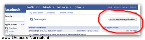 Come creare un applicazione per FaceBook